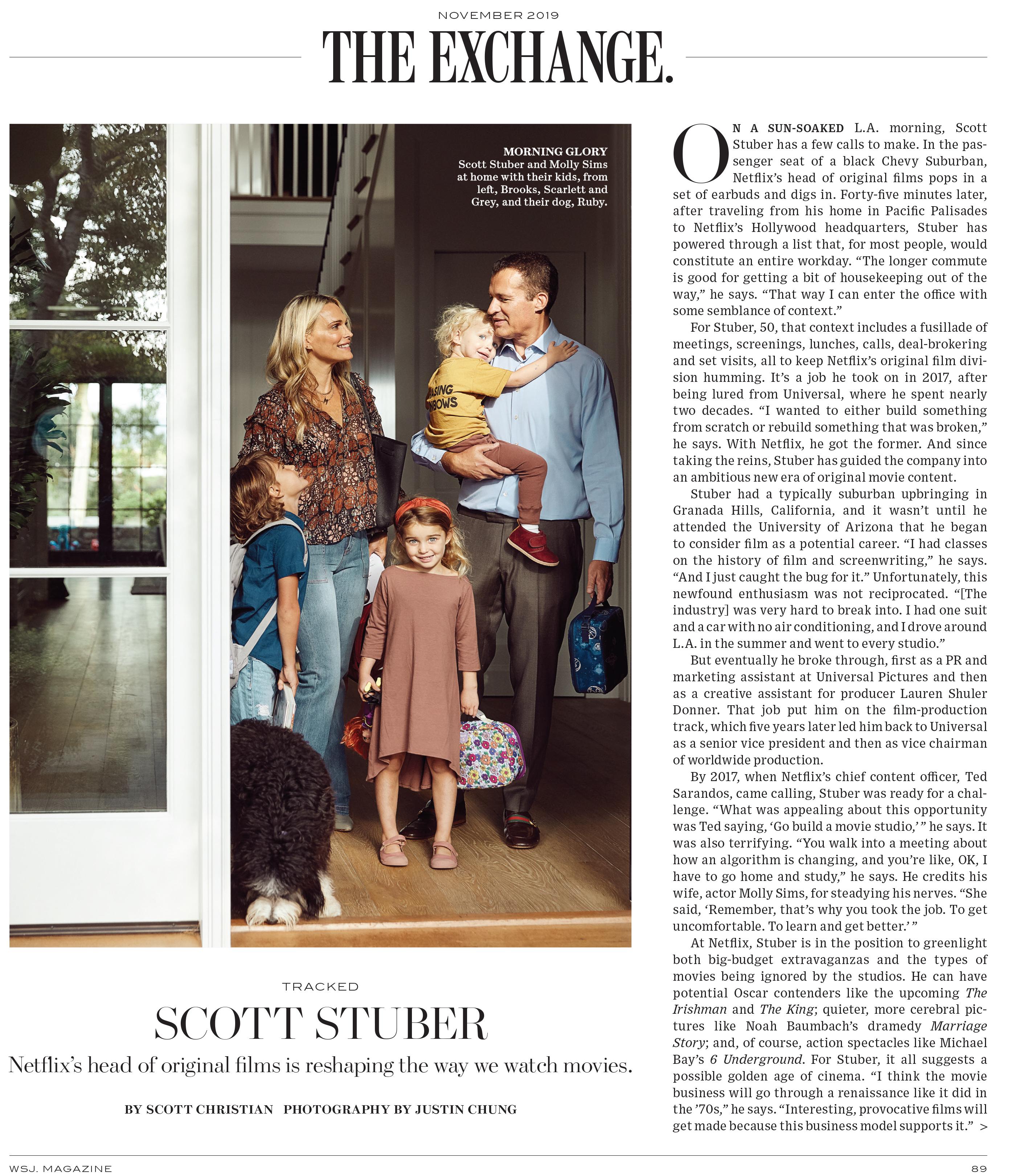 Wall Street Journal, Scott Stuber, Netflix, WSJ Mag