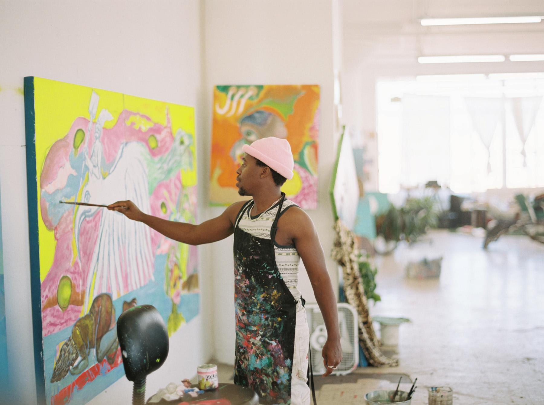 Simphiwe Ndzube, Justin Chung, Studio Visit