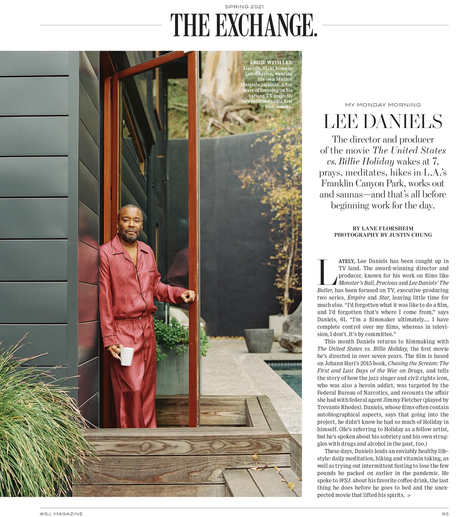 Lee Daniels, WSJ. Magazine, Justin Chung